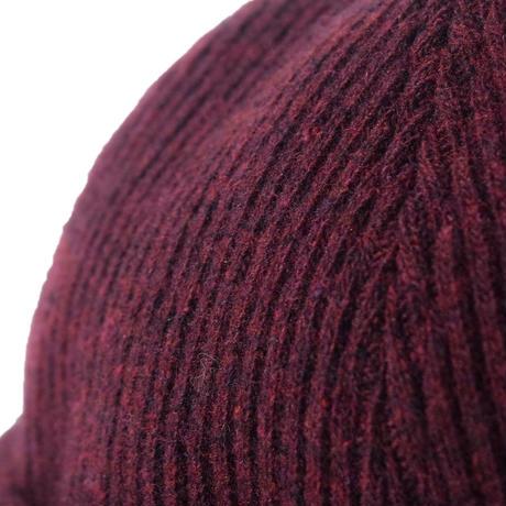 Knitting Roll Cap(Burgundy)