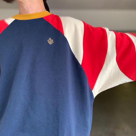 Shoulder Switching Big Sweat(Navy)
