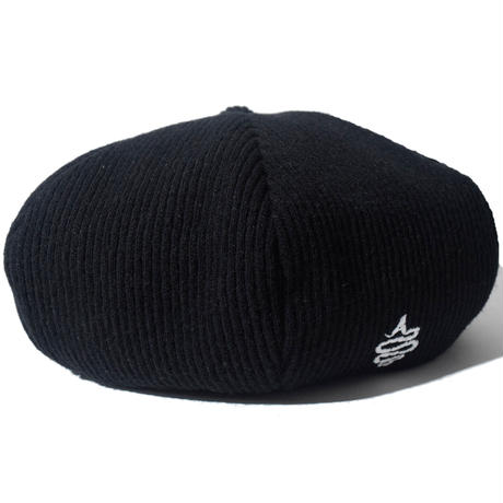 Knitting Beret(Black)