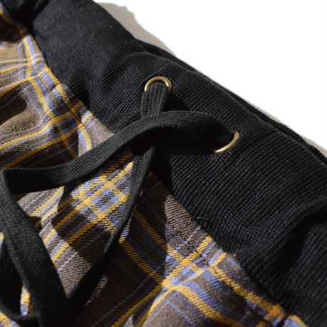 Lattice Rib Pants(Brown)