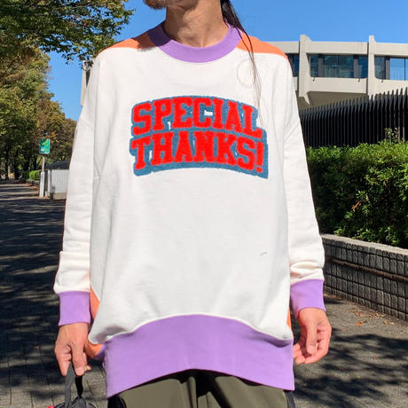 Special Thanks Funny Sweat(White)
