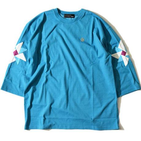 Pinwheel Half SleeveT(Blue)