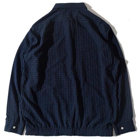 Check Tighten Shirts(Navy)