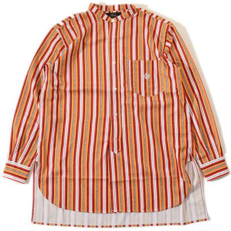 Stand Stripe Shirt(Orange)