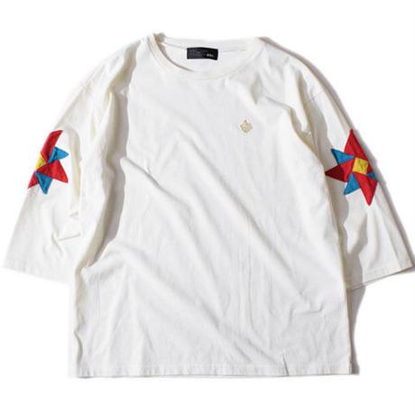 Pinwheel Half SleeveT(White)
