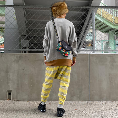 Skull Border Saluel Pants(Yellow)