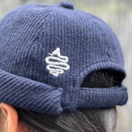 Knitting Roll Cap(Navy)