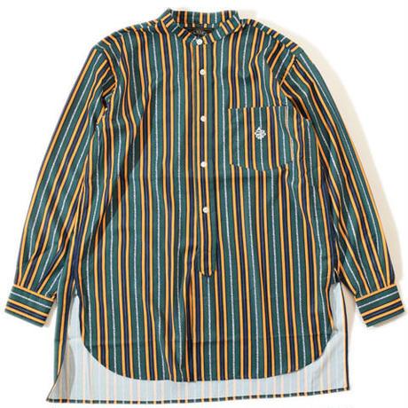 Stand Stripe Shirt(Green)