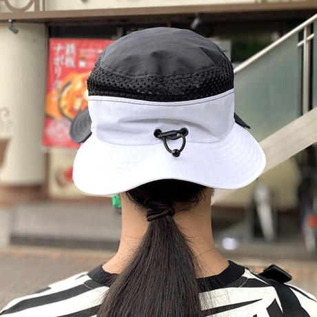 Double Brim Hat(BK×WH)