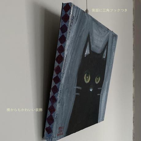 ナニオモフ 黒猫アクリル画