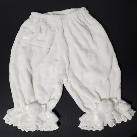 ロリータ ドロワーズ かぼちゃパンツ 甘ロリ レディース 冬 暖か 防寒 スカート 部屋着 3色 選べる着丈
