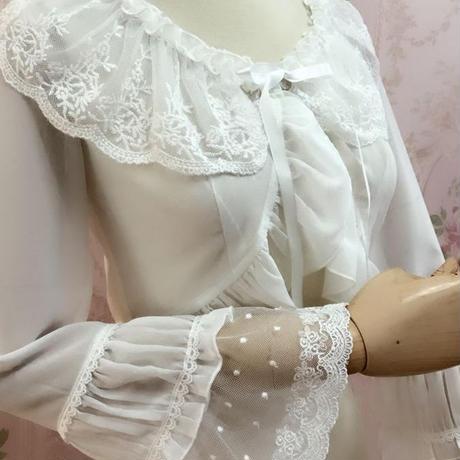 ロリータ ボレロ 長袖 カーディガン 春 夏 羽織る 薄手  華やか