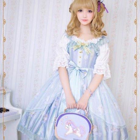 ロリータ ワンピース ジャンパースカート 天使 星 甘ロリ コスプレ  ドレス 姫