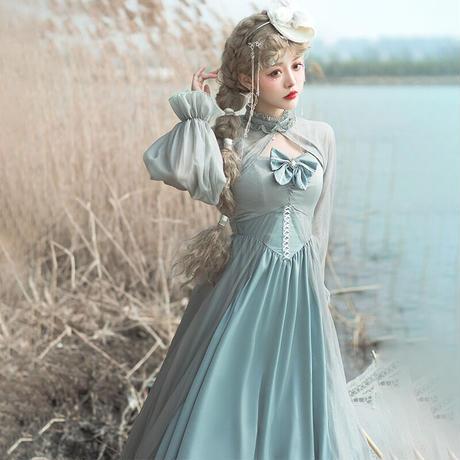 ドレス ワンピース ロリータ 3点セット レディース チュールワンピース ウェディングドレス ハイウエスト