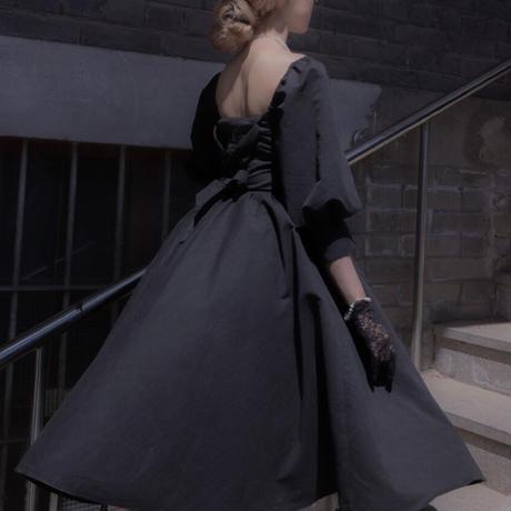 ロリータ ワンピース ドレス ロング丈  ゴスロリ 優雅 上品 エレガント