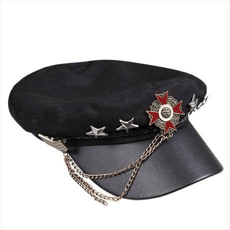 帽子 ロリータ ハット 軍服ロリータ 軍ロリ ゴスロリ レディース かっこいい クール ミリタリーハット