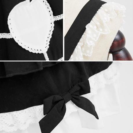 ロリータ ワンピース 甘ロリ 夏 ノースリーブ ジャンパースカート   選べる3カラー