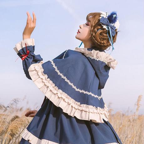 ロリータ ケープ マント ポンチョ 秋 冬 レディース 保温 暖か 赤ずきん アウター コスプレ ロリィタ