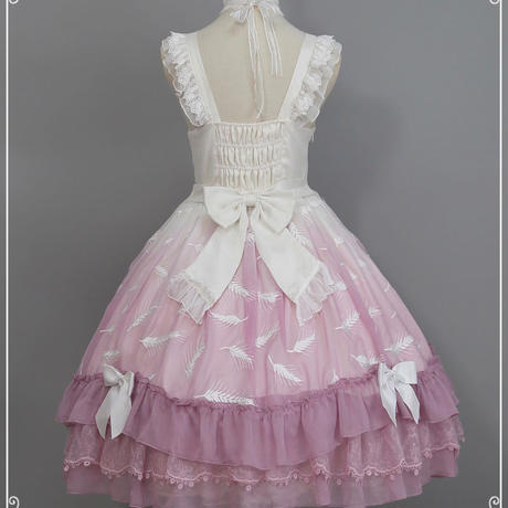 ロリータ ドレス ワンピース  春 新作  かわいい   姫 プリンセス ピンク ホワイト