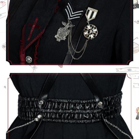 ロリータ ワンピース ゴスロリ  軍服 長袖 衣装 レディース コスプレ コスチューム 秋冬 ハロウィン
