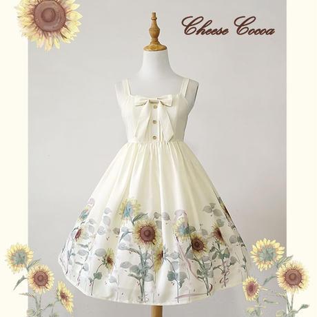 ロリータ 夏 ワンピース ドレス ジャンパースカート  かわいい   清楚 エレガント