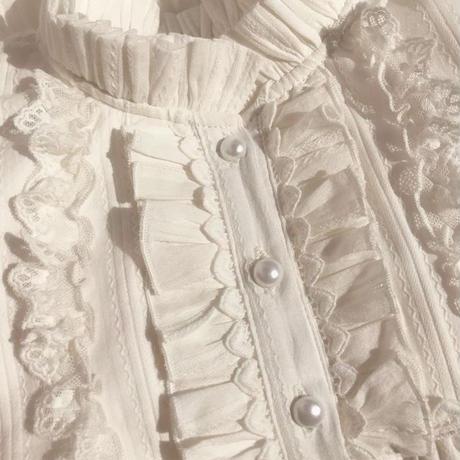 ロリータ ブラウス レディース トップス シャツ 長袖  ガーリー ハイネック かわいい 暖か