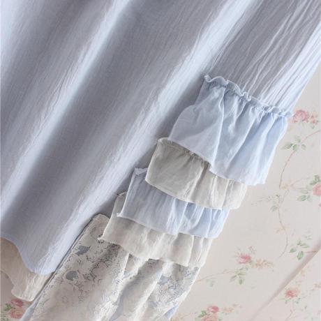ロリータ ノースリーブ ワンピース レディース  レース 刺繡 快適 ロリィタ 涼しい 2色 ゆったり  フリーサイズ