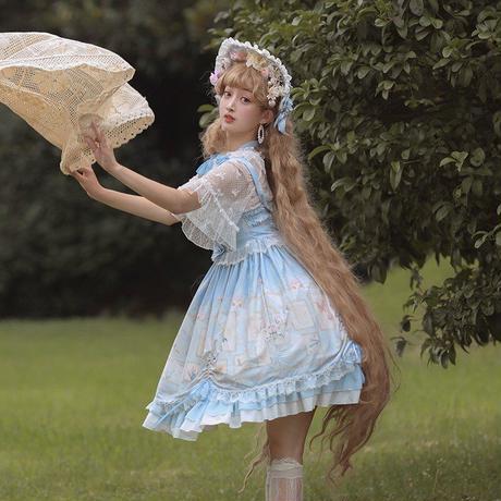 ワンピース ロリータ ジャンパースカート ドレス レディース ゆめかわいい 優雅 ロリィタ 日常 コスプレ