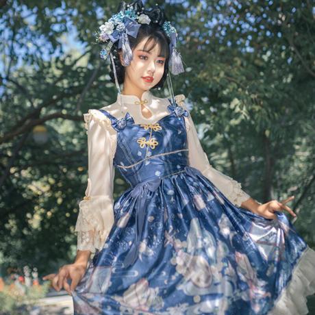 ロリータ ワンピース 中華ロリ チャイナドレス レディース 漢服 コスプレ ゆめかわいい