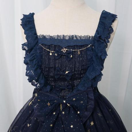 ロリータ ワンピース キャミソールドレス JSK  ジャンパースカート 夜空 星 刺繡  星座 ロリィタ S M L XL
