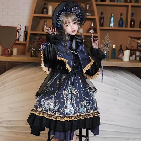 ロリータ ドレス ワンピース 豪華セット 長袖 レディース ゴシック ゴスロリ クラシカル 姫 コスプレ