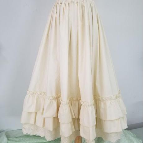 ロリータ スカート ロング ショート  刺繍 フリル ロリィタ アンダースカートOK コーディネート 45~80cm