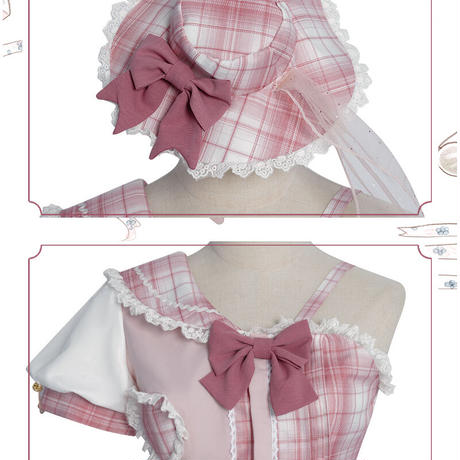 ロリータファッション 4点セット ワンピース ゆめかわいい レディース ピンク コスチューム コスプレ 甘い S-3XL