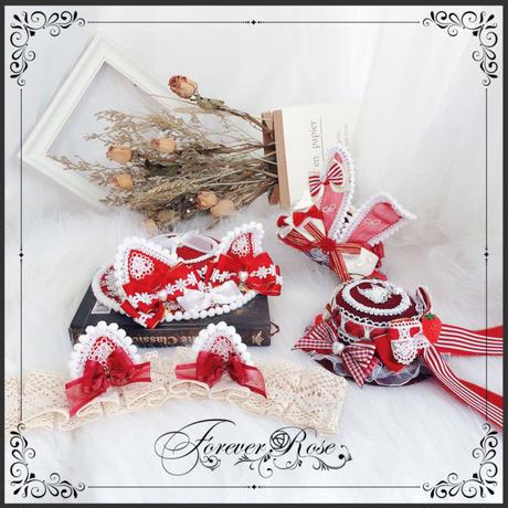 ロリータ 帽子 ヘッドドレス 苺 いちご コスプレ シルクハット かわいい