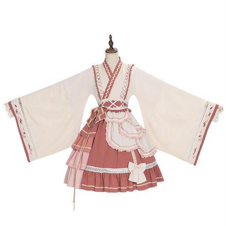 ロリータワンピース ドレス オリジナル 個性的 和風 中華風 チャイナ服 ロリィタ レディース 長袖