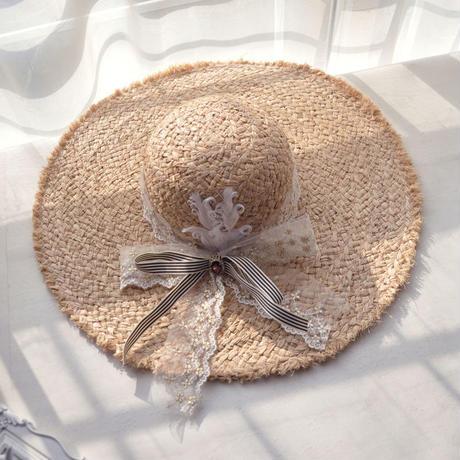 【オープンセール】可愛いリボン付き麦わら帽子