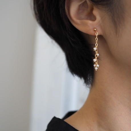 14kgf Small pearl studded pierce [PP020]