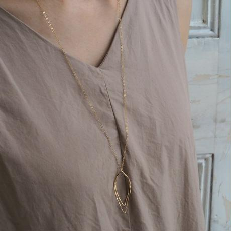 14kgf Twist marquis necklace [NG018]