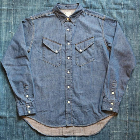 WORKERS 【 WestanShirt 】 8oz IndigoDenim,Washed
