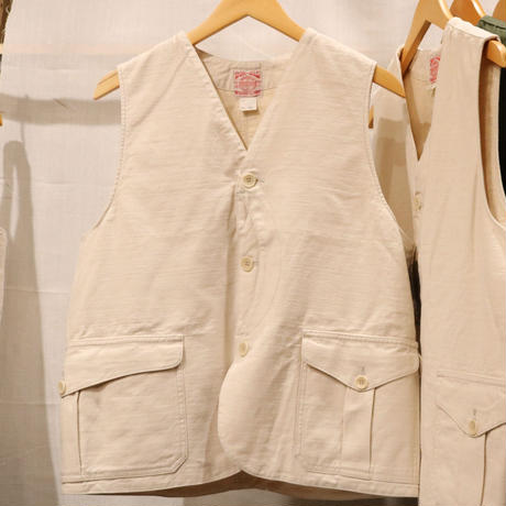 WORKERS【CruiserVest】ReversedSateen , ReactiveDyeing COYOTE , OD , ECRU