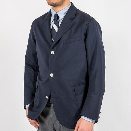 WORKERS【Blazer】DarkNavy WoolTropical , SilverButton Size.38