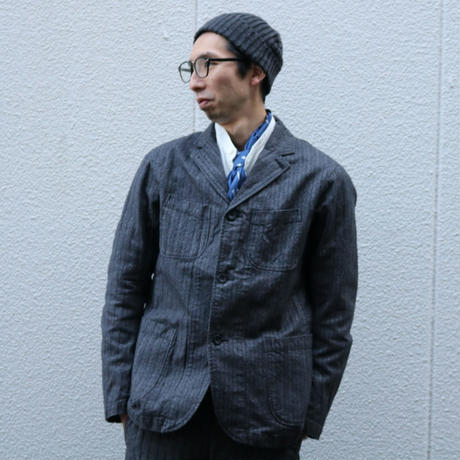 WORKERS【LoungeJacket】HerringboneStripe Size.38