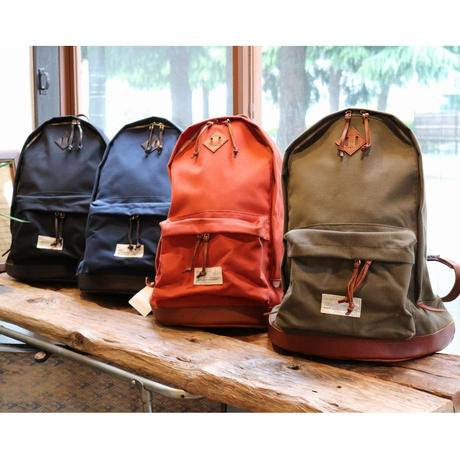 VASCO 「Vasco Equipment」 NYLONCROSS×LEATHER OLD DAYPACK Olive