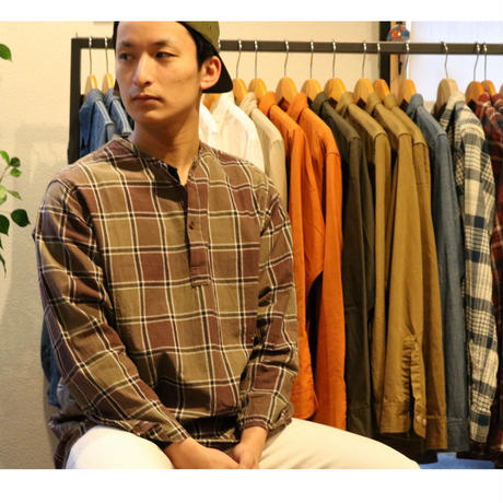 WORKERS【SleepingShirt】MadrasCheck Size.Small