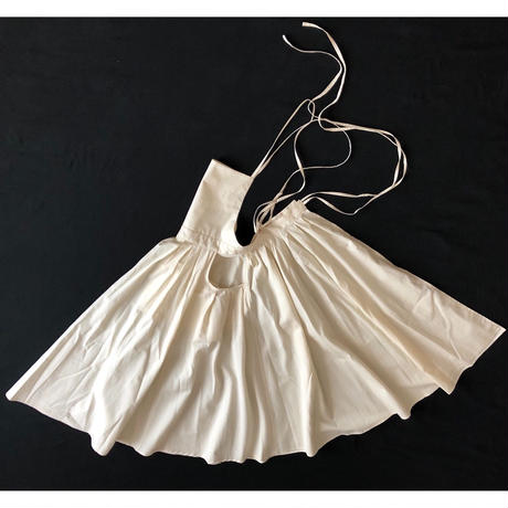 "apron dress ""JEANDREE""  /Ivory"