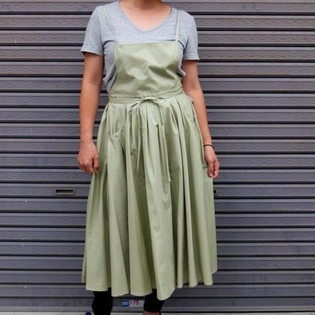Tuck-Pleats Jeandree Apron  /Green
