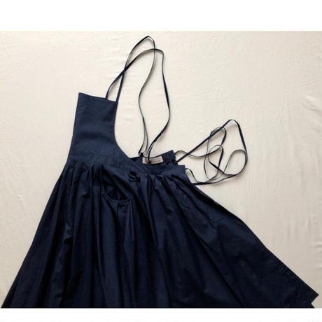 "apron dress ""JEANDREE""  /Navy"