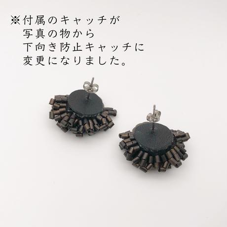 メタルボタンのピアス/イヤリング・ブロンズ