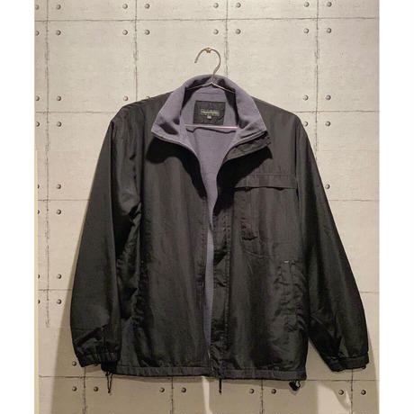 WORK PLANT / fleece coach jacket / Black used フリース コーチジャケット アウター 古着