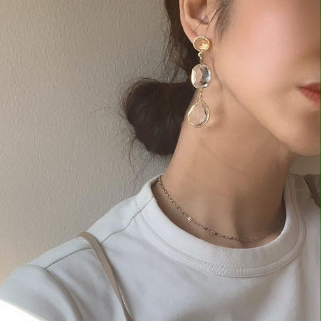 【Hand-made】The transparence pierces / earrings #18